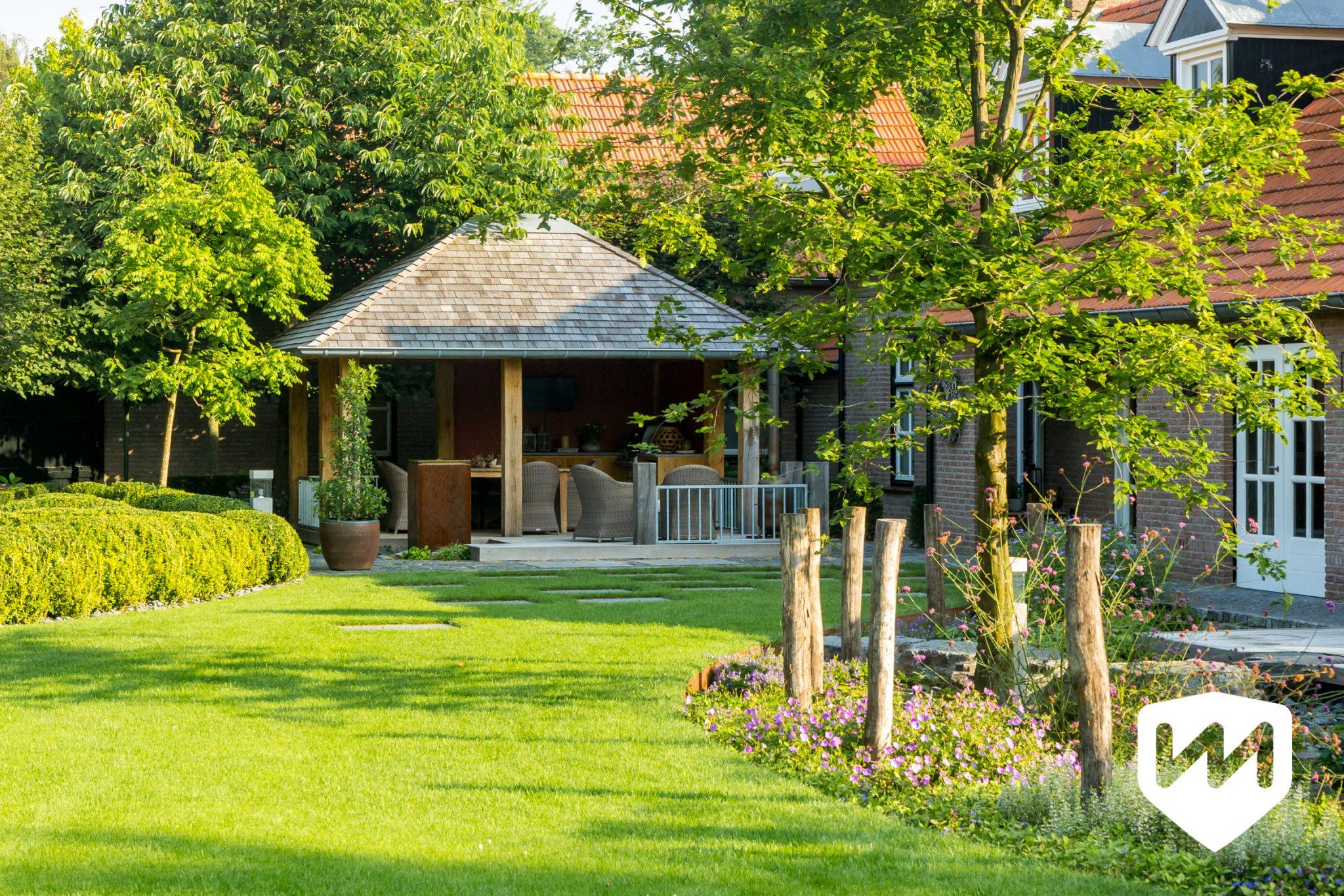 Landelijke Tuin Met Stoer Paviljoen Van Mierlo Tuinen
